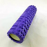 Валик (ролик, роллер) массажный для йоги, фитнеса (спины и ног) OSPORT (MS 1836) Фиолетовый