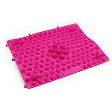 Килимок-пазл ортопедичний масажний (масажер для ніг і стоп) OBABY 24*30cm (MS 1952) Рожевий