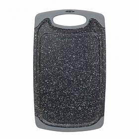 Доска разделочная 40 х 24 х 0.8 см пластиковая серый мрамор Kamille КМ-10059