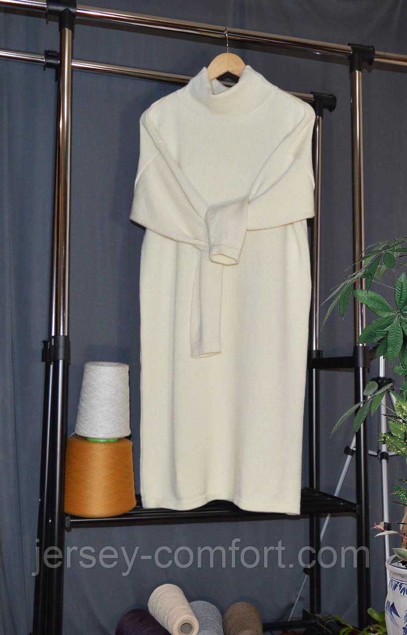Вязаное платье из мериноса. Платье оверсайз