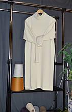 Вязаное платье из мериноса. Платье оверсайз XXL