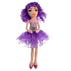 Кукла мягкая Мишель в фиолетовом платье