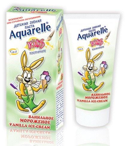 """Зубная паста для детей Aquarelle """"Ванильное Мороженое"""" (50мл.)"""
