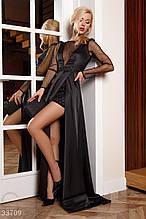 Платье с утонченной кружевной вышивкой