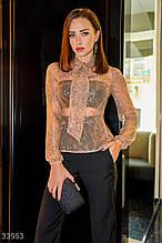 Женственная кружевная блуза