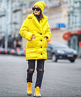 Суперстильная длинная зимняя куртка Linda (44–50р) в расцветках, фото 1