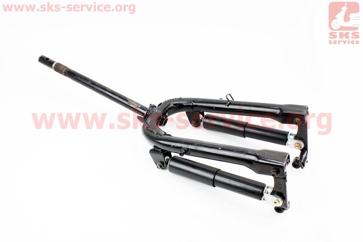 Вилка передняя рычажная с амортизаторами 250мм в сборе на скутер Wind (Viper)