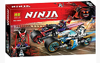 Конструктор Ninja Уличная погоня, 333 деталей Детские игрушки для мальчиков Набор конструктора Ninja