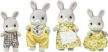 Sylvanian Families - Cottontail Rabbit Family Семья Серых Кроликов