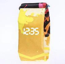Паперові годинники Paper Watch Жовтий графіті
