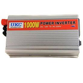 Преобразователь напряжения UKC 12V-220V 1000W (инвертор) (S07356)