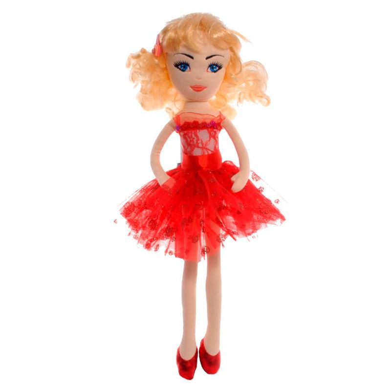 Куколка Николь мягкая в красном платье 48 см