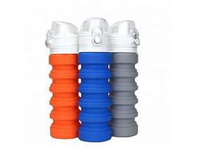 Складная силиконовая бутылка Water Bottle S2
