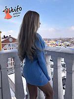 Платье-туника Соня голубая с-л