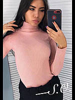 Женский теплый свитер розовый