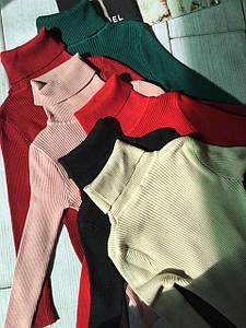Женский теплый свитер водолазка под горло разные цвета