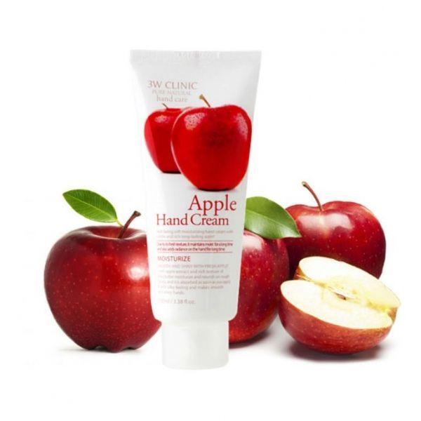 Крем для рук 3W Clinic Apple Hand Cream  с экстрактом яблока 100 мл