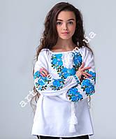 Вишиванка для дівчинки домоткане полотно, фото 1