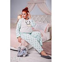 Женская тёплая  пижама,  мягкий плюш, размеры 48-58, фото 1