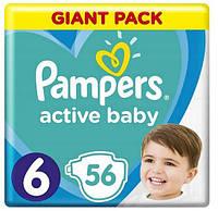 Подгузники Pampers Active Baby 6  (13-18 кг) Giant Pack, 56 шт., фото 1