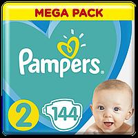 Подгузники Pampers New Baby-Dry 2 (3-6 кг) Mega Pack,144 шт.