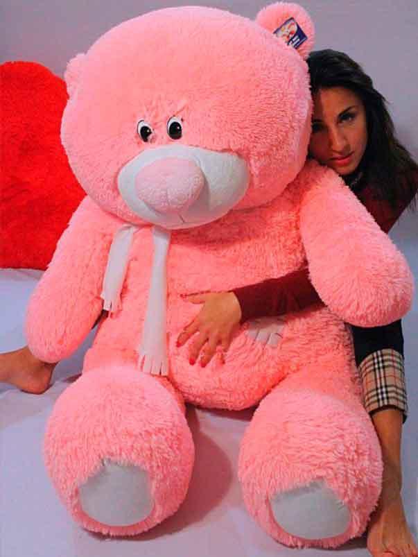 Плюшевый Мишка Тедди 140 см Большой Медведь игрушка Плюшевый медведь Мягкие мишки игрушки Ведмедик (Розовый)
