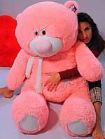 Плюшевый Мишка Тедди 140 см Большой Медведь игрушка Плюшевый медведь Мягкие мишки игрушки Ведмедик (Розовый), фото 1