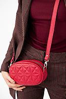 Овальная сумка бананка красного цвета UDLER