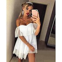 Красивое платье с декольте мини Пурпур 392