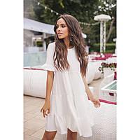 Женское летнее платье с воланами Волга 5093