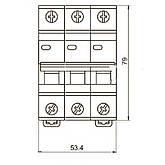 Автоматический выключатель ВА47-29 3P-С 32A 4,5кА ИЭК, фото 3