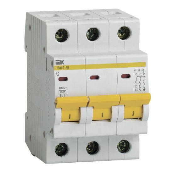 Автоматический выключатель ВА47-29 3P-С 40A 4,5кА ИЭК