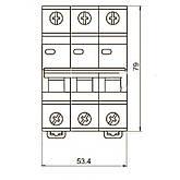 Автоматический выключатель ВА47-29 3P-С 40A 4,5кА ИЭК, фото 3