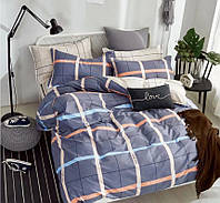 Комплект постельного белья семейка, серый в полоску (два пододеяльника)