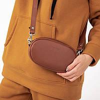 Овальная сумка бананка коричневого цвета UDLER, фото 1