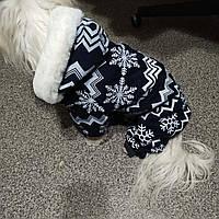 Теплая одежда для маленьких собак. Ветрозащитная зимняя одежда куртка свитер жилетка комбинезон для собак