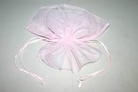 Розовый пакет для упаковки цветов и горшков (сетка соты)