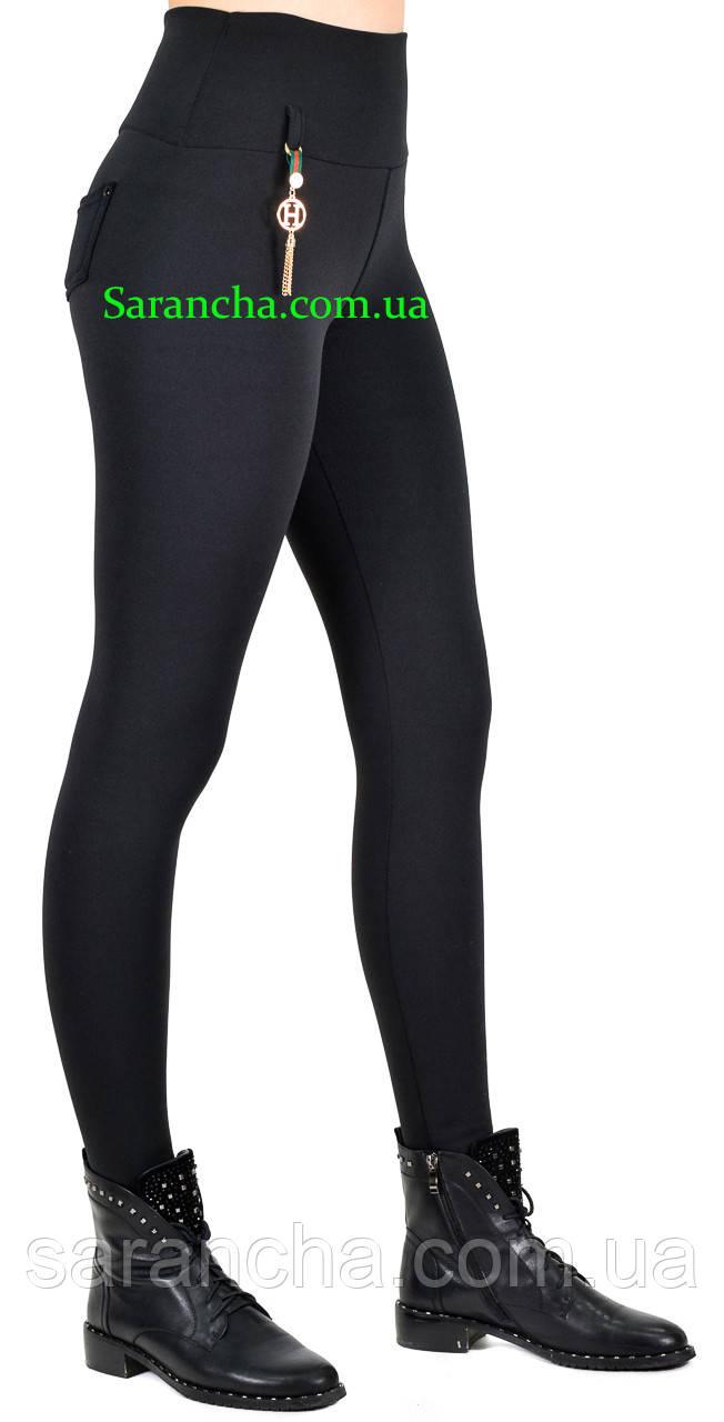 Жіночі утеплені жіночі класичні чорного кольору розміри від 44 до 50