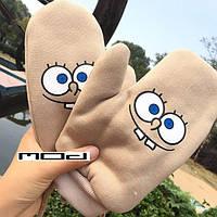 Перчатки зимние со Спанч Бобом, фото 1