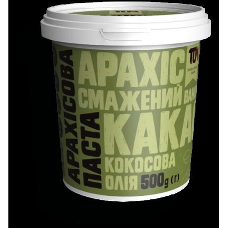 Арахісова паста ТОМ з какао та кокосовою олією 500 г