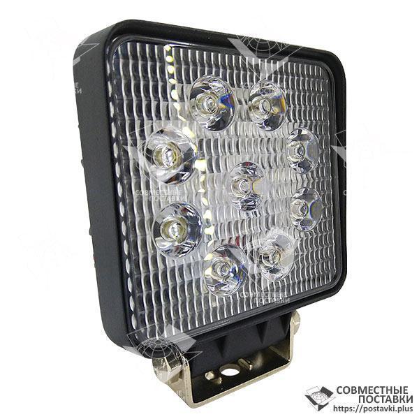 Дополнительная светодиодная фара рассеянного (ближнего) света 27W/60 квадратная 10-30V