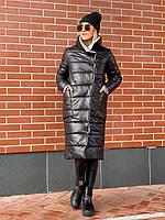 Женская удлиненная куртка пальто Плащевка на синтепоне Размер 42 44 46 В наличии 3 цвета, фото 1