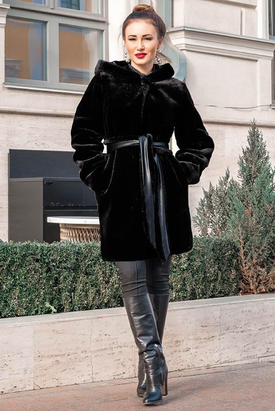 Стильная  женская шуба  из искусственного мутона с 42 по 70 размер