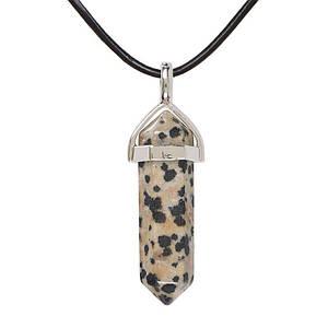 Кулон  из натурального камня яшма далматин