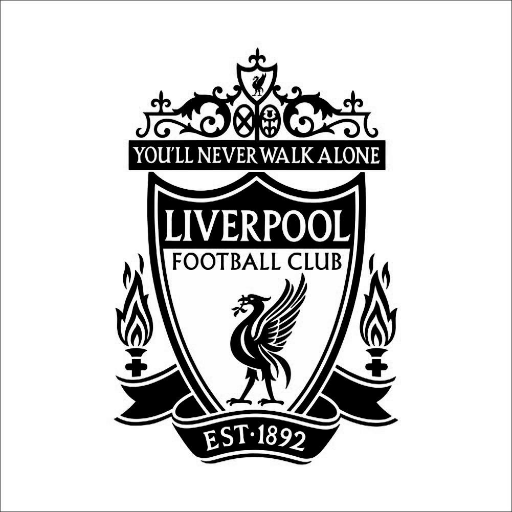 Наклейка на стену Liverpool черная