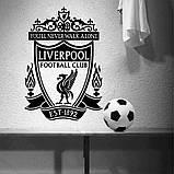 Наклейка на стену Liverpool черная, фото 2