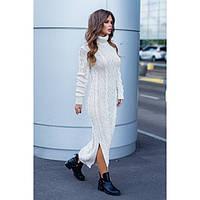 Платье вязаное длинное под горло 3144 Турция