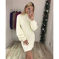 Платье свитер теплое женское Валенсия 429