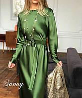 Платье женское длинное  шёлковое