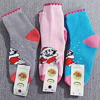 Шкарпетки для дівчаток махрові 7-8 роки